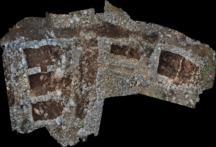 Excavated area 3D model