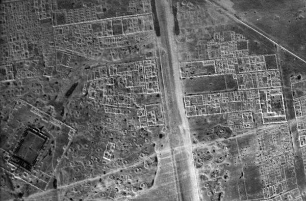 Air photograph of al Mutawakkiliyya