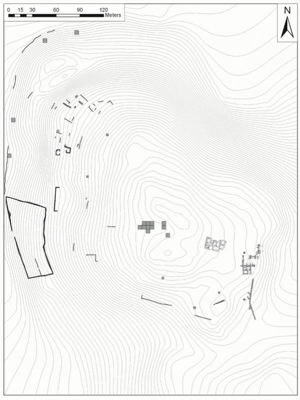 Topographic map of Dhiban